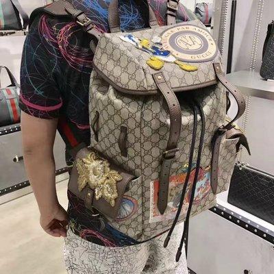 Gucci 460029 Soft GG Supreme backpack 唐老鴨後背包