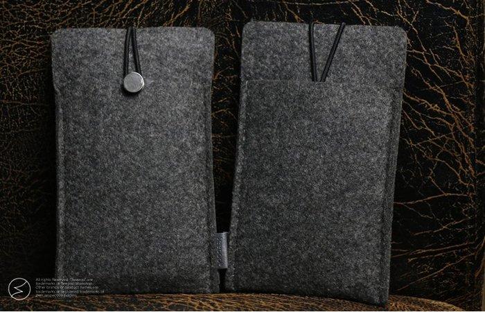 【Seepoo總代】2免運拉繩款Apple iPhone 11 Pro 羊毛氈套 手機殼 手機袋 保護套保護殼 黑灰