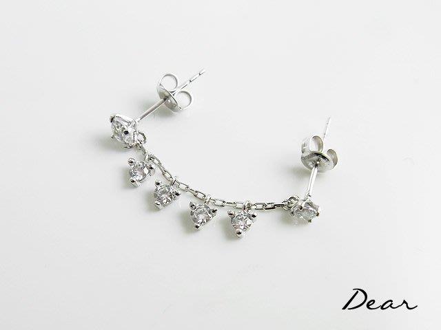 ◎【 Dear Jewelry 】◎ 14K金耳環 單邊雙耳洞 耐用不褪色 不過敏 生日禮物 ----免運