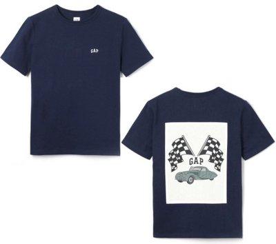 GAP 短袖 T恤 上衣 現貨 標誌 深藍大男童 XL/XXL