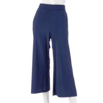 吸濕速乾條紋寬版褲  夏季不怕悶熱  都會優雅職場OL必備! 穿搭超方便  日本製   黑/藍/淺灰 三色