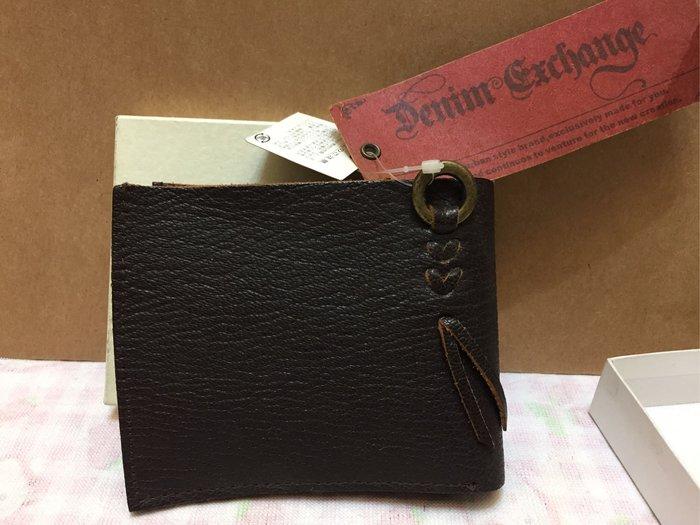 [變身館日本服飾]~Denim Exchange~皮革材質~牛革~~短夾~零錢~證件~皮夾~日本購入~全新正版~現品