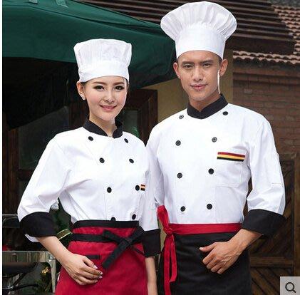 廚師服長袖秋冬裝 男女酒店西餐廳廚房工作服蛋糕房烘焙廚師衣服