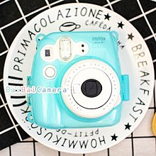 Bai 富士 mini8 mini 8+ plus 藍色 水晶殼 保護殼 透明殼 另拍立得底片 保護套 皮套 相機包