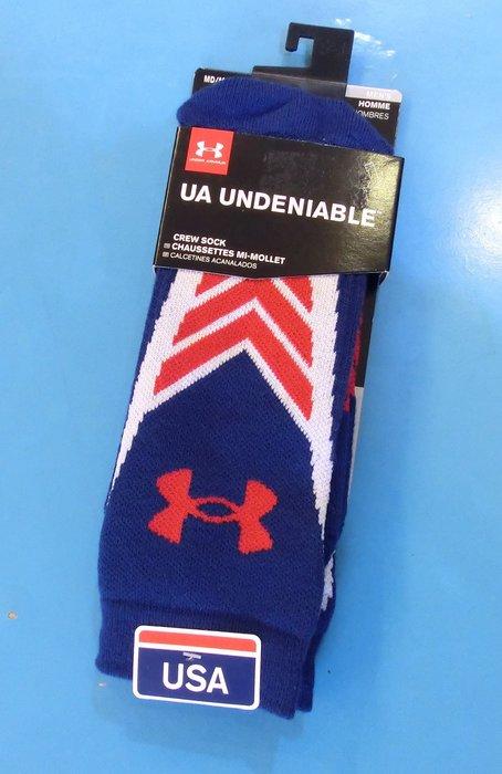 **[小小pen運動襪子]---UA Undeniable 舒適籃球襪~~中筒襪(紅黑色)