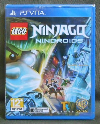 【月光魚 電玩部】現貨全新 PSV 樂高旋風忍者:機械忍者 亞版英文版 LEGO Ninjago: Nindroids