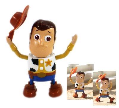 【卡漫迷】 胡迪 發條 可動 公仔 ㊣版  Woody 玩具總動員 Toy Story 玩具 擺飾裝飾 收藏 辦公桌