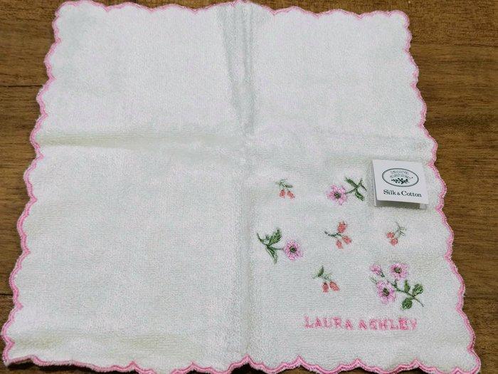 【姐只賣真貨】LAURA ASHLEY  可愛小花方巾手帕(白色)情人節首選禮物
