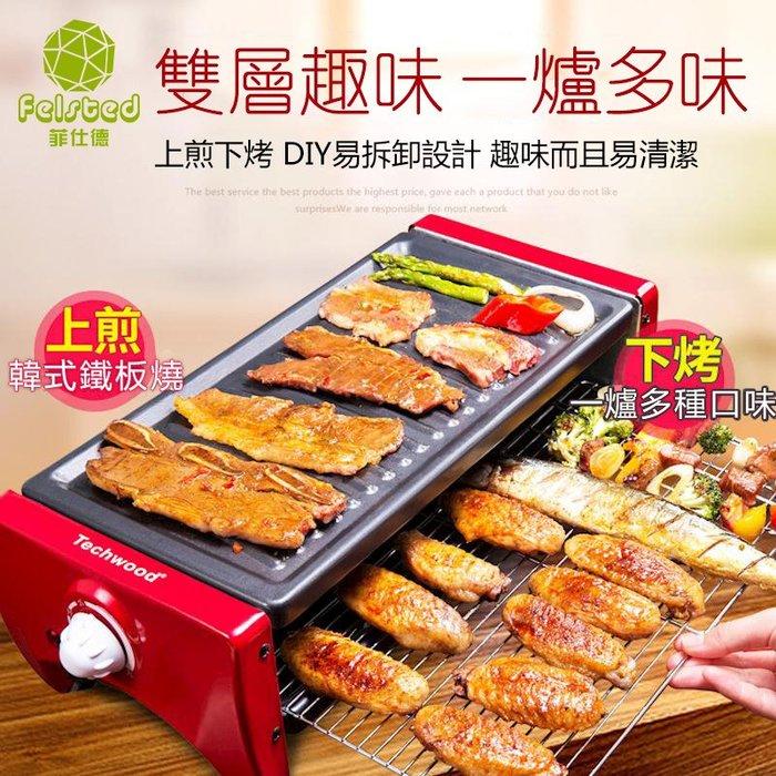 現貨快出   110v 中號(2-6人)多功能不粘鍋分離式電烤盤