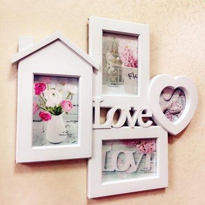 歐式影樓love小房子愛心家庭6寸照片掛牆連體組合相框創意照片牆