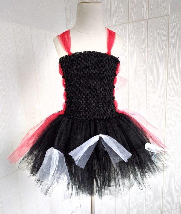 【小阿霏】兒童萬聖節造型服裝 萬聖小惡魔短版tutu洋裝 女童紗裙蓬蓬裙化裝舞會裝扮CL226