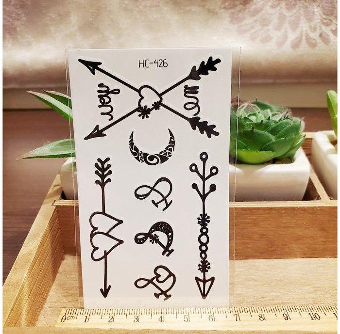 【萌古屋】黑色小圖騰 - 男女防水紋身貼紙刺青貼紙HC-426