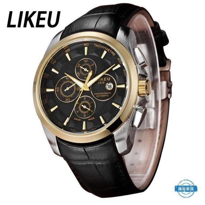 YEAHSHOP 男錶手錶男士皮帶石英錶男錶 正韓時尚潮流學生錶防水皮帶腕錶Y185