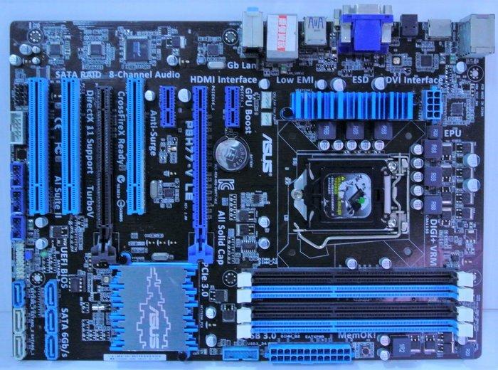 ~ 駿朋電腦 ~ 華碩 P8H77-V LE 1155主機板 DDR3 USB3.0 顯示 $1200