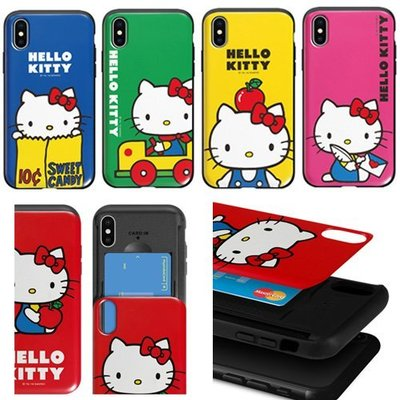 Hello Kitty 防摔推蓋卡夾 手機殼│iPhone X XS MAX XR 11 Pro│z8664