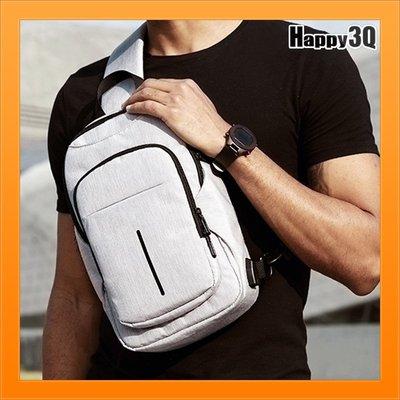 多功能胸包男生防潑水書包單肩包肩背包牛津包USB背包斜背包-黑/藍/灰【AAA5136】