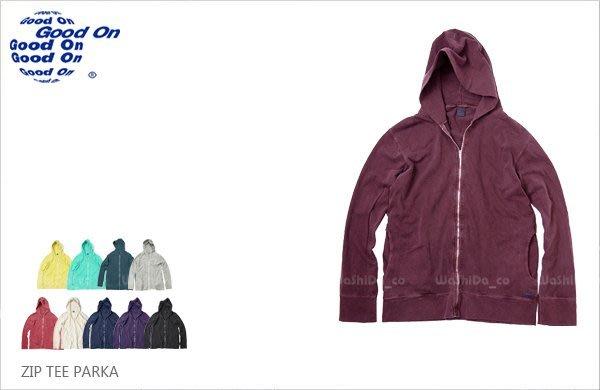 WaShiDa【golt1303p】Good On 日本品牌 ZIP TEE PARKA 輕薄 連帽 長袖 帽T 外套