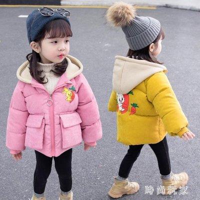 女童羽絨外套 女寶寶新款加厚棉服小童冬季羽絨棉襖洋氣外套OB746