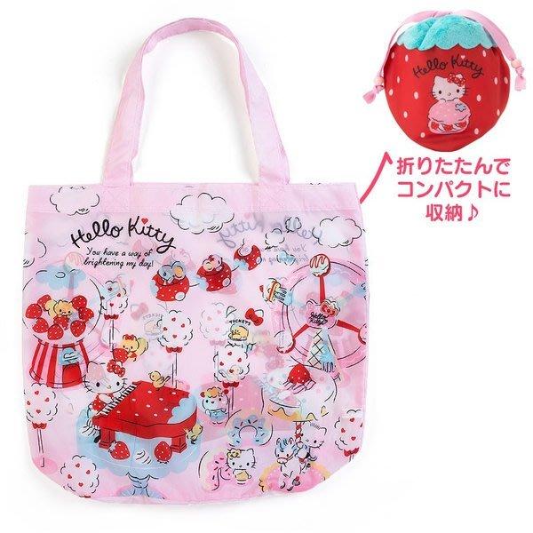 代購現貨 日本三麗鷗 草莓束口收納環保購物袋