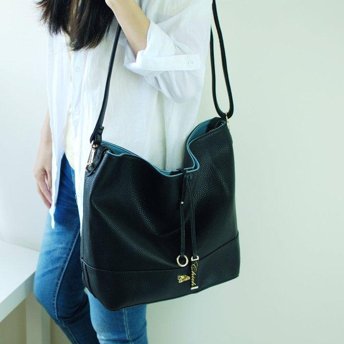 【里樂@ LeaThER】百搭簡約吊飾 托特包 大方包 側背包 子母包  大容量    荔枝紋 467
