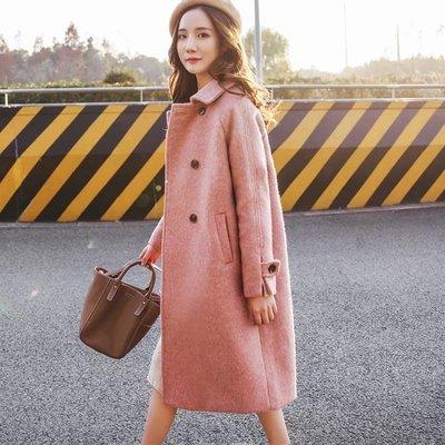 優雅法式挺版羊毛外套?保暖大衣
