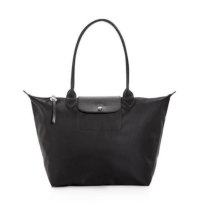 Coco小舖 Longchamp Le Pliage Neo Large Nylon Tote  大款黑色