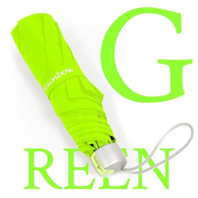 【純色時尚】CholoGay原色玻纖三折傘 (粉綠) / 雨傘防UV傘防風傘折傘手開傘折疊傘