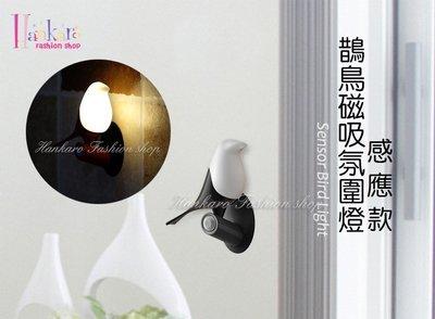 ☆[Hankaro]☆喜上梢木頭小鳥造型感應夜燈(單隻款)