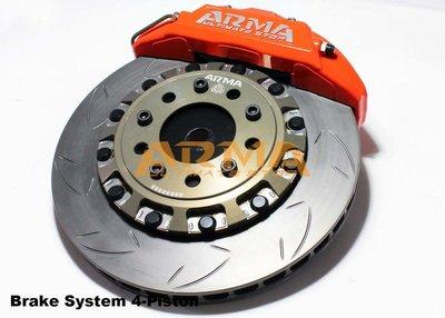 【ARMA】 多活塞煞車系統 前輪 4 活塞x345mm 浮動碟 for BMW E9x 3 series。