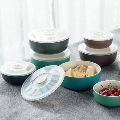 飯盒便當盒陶瓷飯盒 帶蓋圓形密封微波爐專用 飯盒保鮮碗保鮮盒(6英吋)_☆找好物FINDGOODS ☆