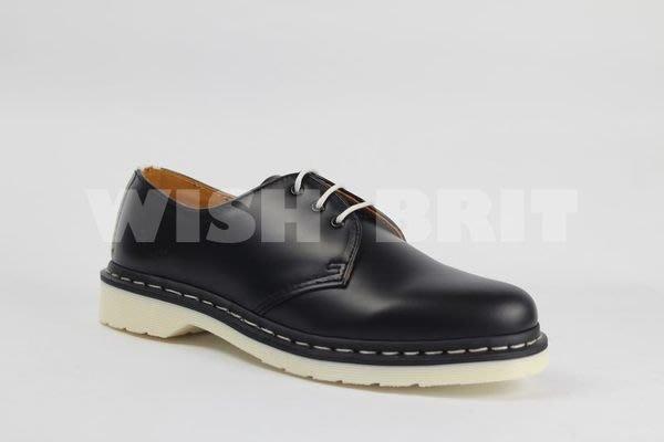 【~希望~完美馬汀】Dr.Martens 1461 三孔 ~七天鑑賞免運~ 黑色 白底 硬皮 izzue 馬汀靴 男鞋