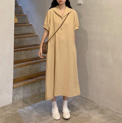 SeyeS  復古古著基本款法式翻領洋裝