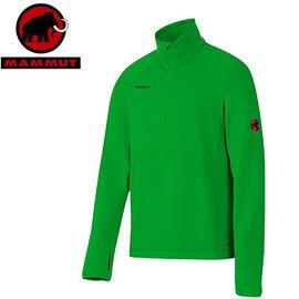 丹大戶外 【MAMMUT】瑞士長毛象 男款中層衣/保暖套頭長袖/快乾 1040-01260-4502 綠色