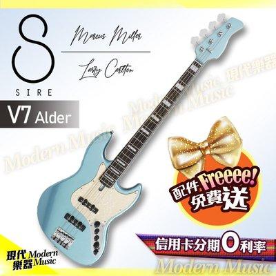 【現代樂器】新色上市!SIRE Marcus Miller V7 電貝斯 湖水藍款 Alder 第2代 BASS 免運費