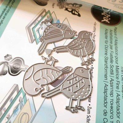 阿里家 scrapbook DIY相冊卡片薄板模具   19096 小鳥  4個裝 卡影/訂單滿200元出貨