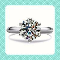 莫桑鑽寶現貨$2490鑽戒1克拉鑽石...