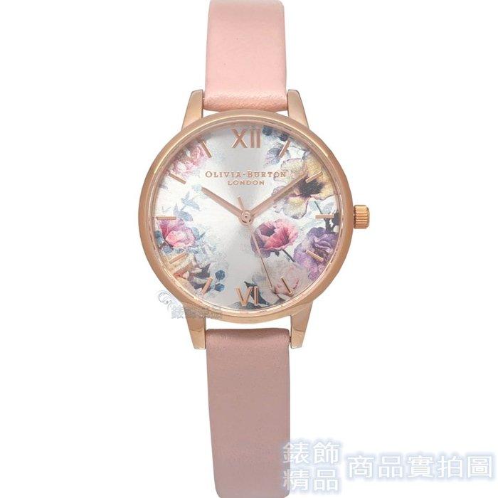 OLIVIA BURTON 手錶 OB16EG115 暮光迷戀花園 粉色皮帶30mm【錶飾精品】