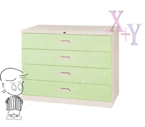 【X+Y時尚精品傢俱】綠色 74 四層式小抽屜鋼製公文櫃.理想櫃.適合學校. 公司.台南市家具