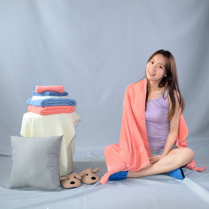 【MORINO摩力諾】有機棉歐系緞條浴巾/海灘巾-免運