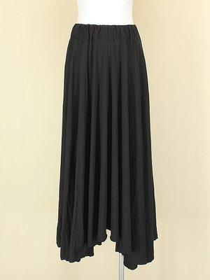 貞新二手衣 韓 黑色棉質圓裙長裙F號(21398)