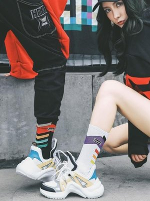 ins長襪子女韓國學院風秋冬純棉男士潮街頭嘻哈歐美中筒襪滑板襪