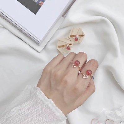 【星愛用】戒指草莓十二星座水晶可塘廠銀鑲嵌時尚OL