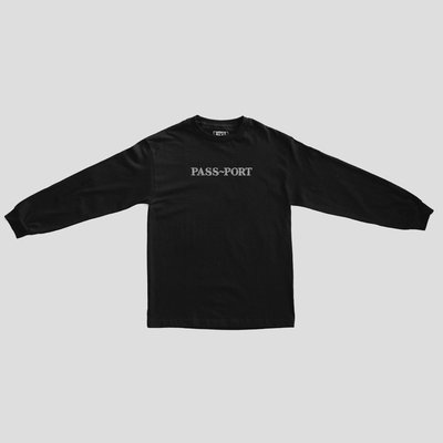 《Nightmare 》PASS PORT OFFICIAL SWEATY EMBROIDERY L/S 長Tee