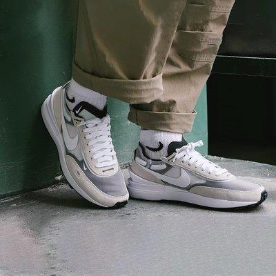 【Dr.Shoes 】Nike Waffle One 灰白 男鞋 平民版sacai  DA7995-100
