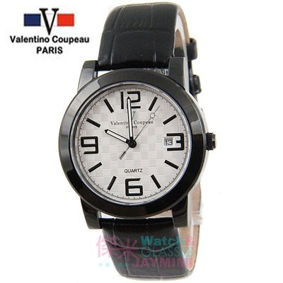 【JAYMIMI傑米】Valentino范倫鐵諾古柏皮帶手腕錶-格紋法式浪漫主義彩色刻度藍水晶玻璃 黑白 特價 1450