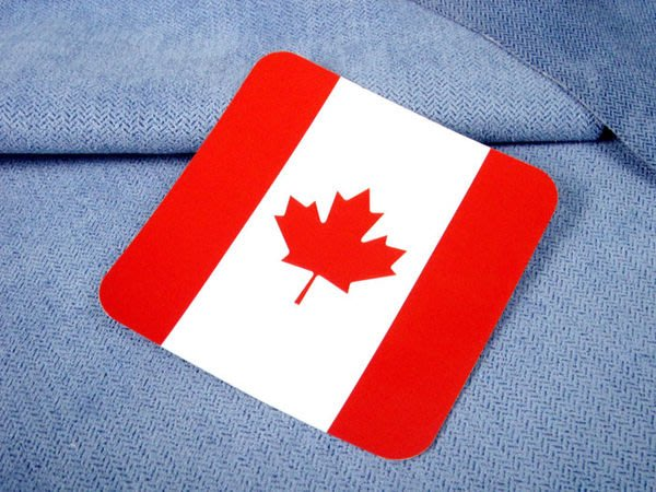 【國旗貼紙專賣店】加拿大方形登機行李箱貼紙/抗UV防水/旅行箱/多國可收集訂製