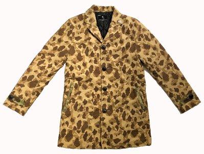 日本製真品VIRGO Duck Camo Car Coat 獵鴨迷彩鋪棉保暖合身剪裁外套D型口袋 窄版休閒西裝短大衣