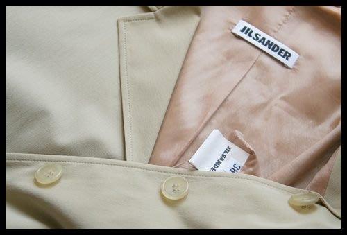 Boutique真品歐碼38 【JIL SANDER】極簡駝色牛角扣西裝上衣(原價$52500)