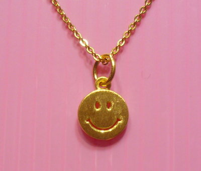 【金飾記錄】【黃金9999】*【純金微笑墜子019】1CM 硬金款