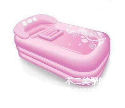 【格倫雅】^泡泡更健康 曼波魚 充氣浴缸 加大加厚 成人保暖充氣浴盆折疊11919[D